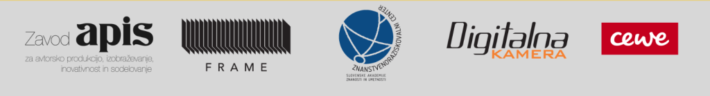 Zavod APIS in FRAME - organizatorja in producenta razstave s partnerji in podporniki projekta: Atrij ZRC, CEWE, Digitalna kamera