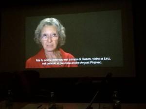 projekcija filma v Rimu